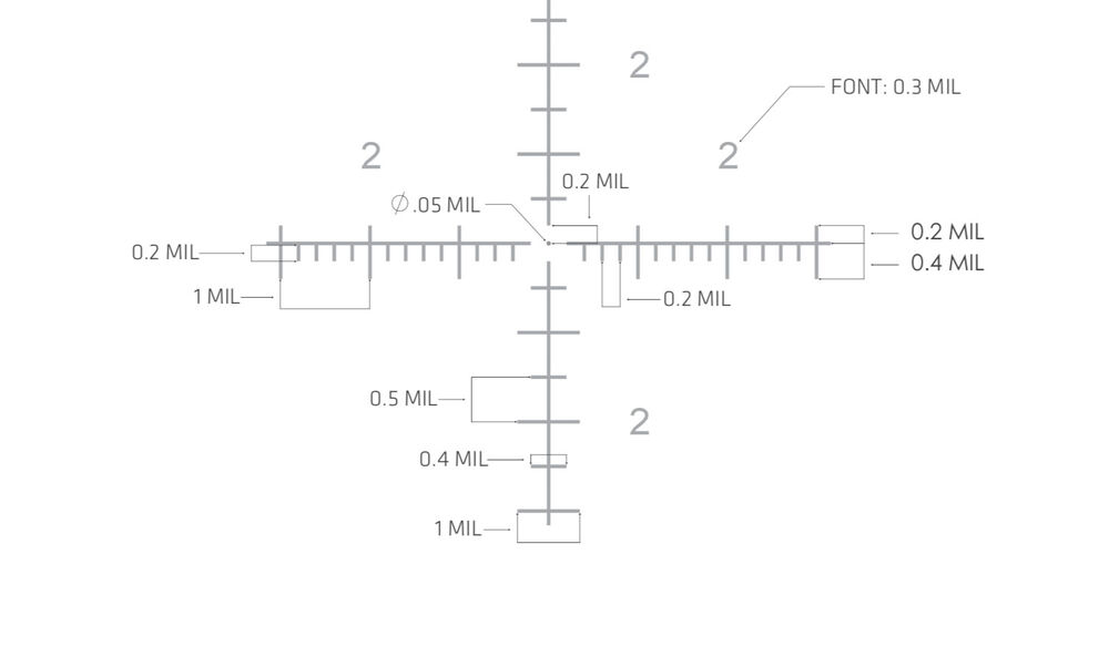 CTL-5318 5-Series Tactical Riflescope 3-18x50mm MIL/MIL FFP