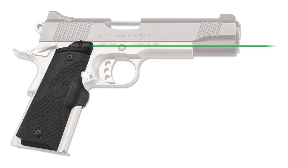LG-919G Green Master Series™ Lasergrips® G10 Black for 1911 Full-Size
