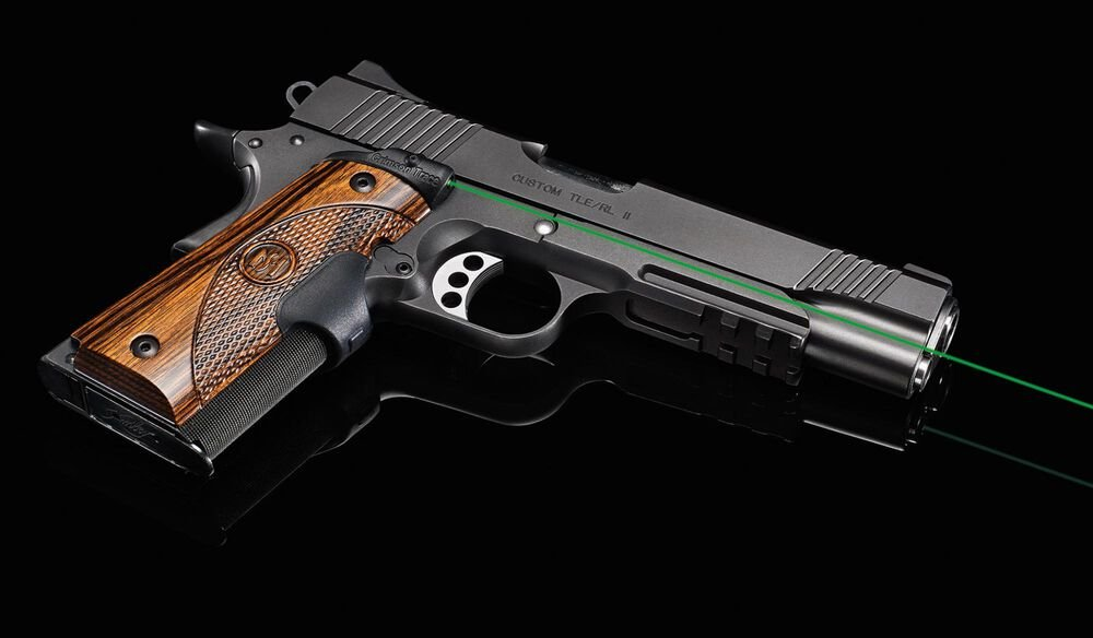 LG-908G Green Master Series™ Lasergrips® Walnut for 1911 Full-Size