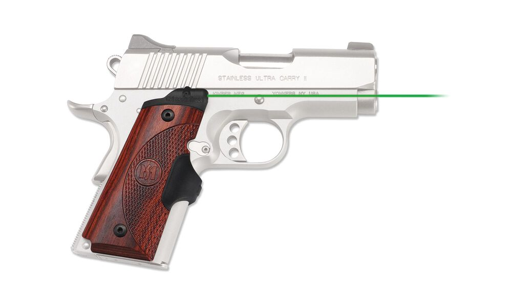 LG-902G Green Master Series™ Lasergrips® Rosewood for 1911 Compact