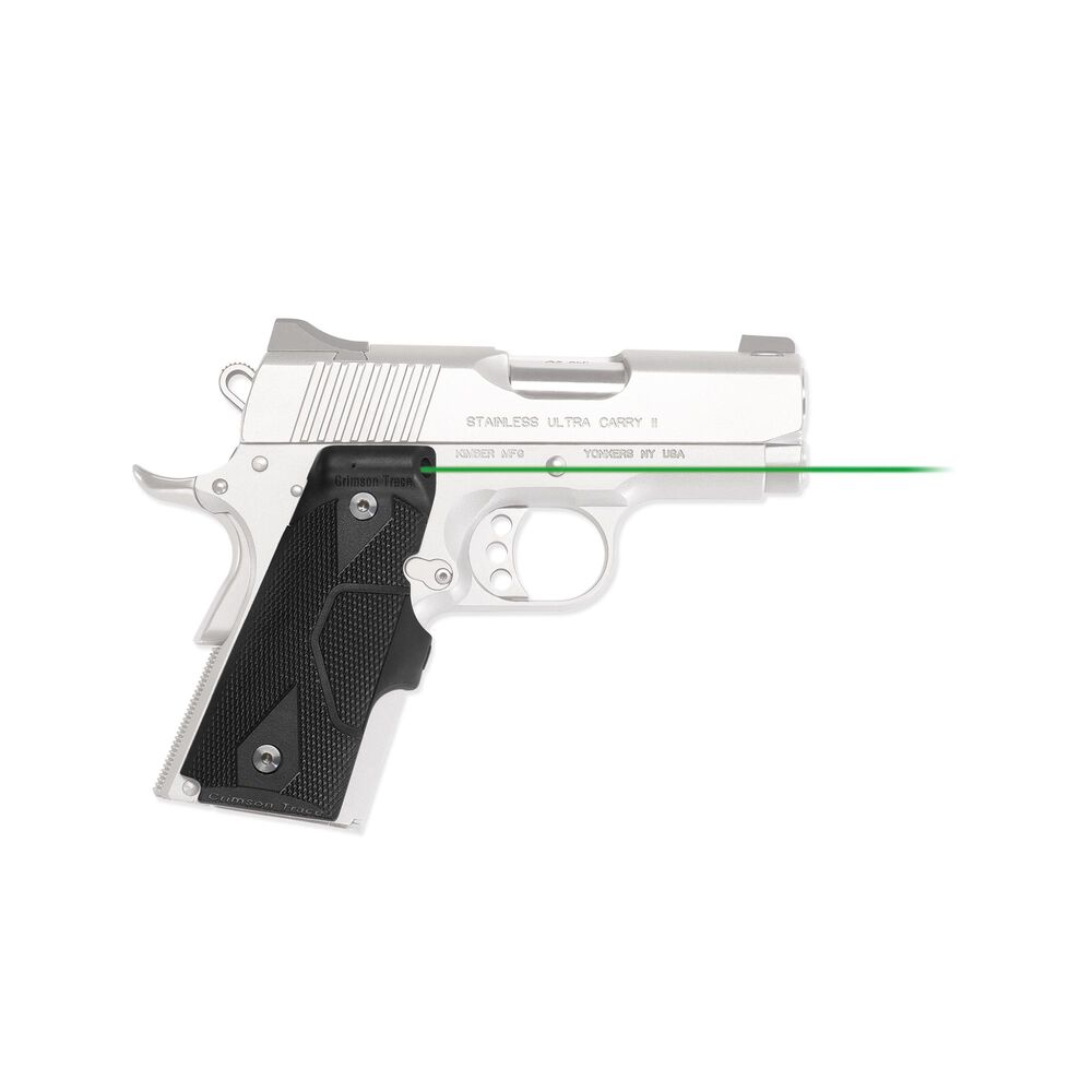 LG-404G Front Activation Green Lasergrips® for 1911 Compact