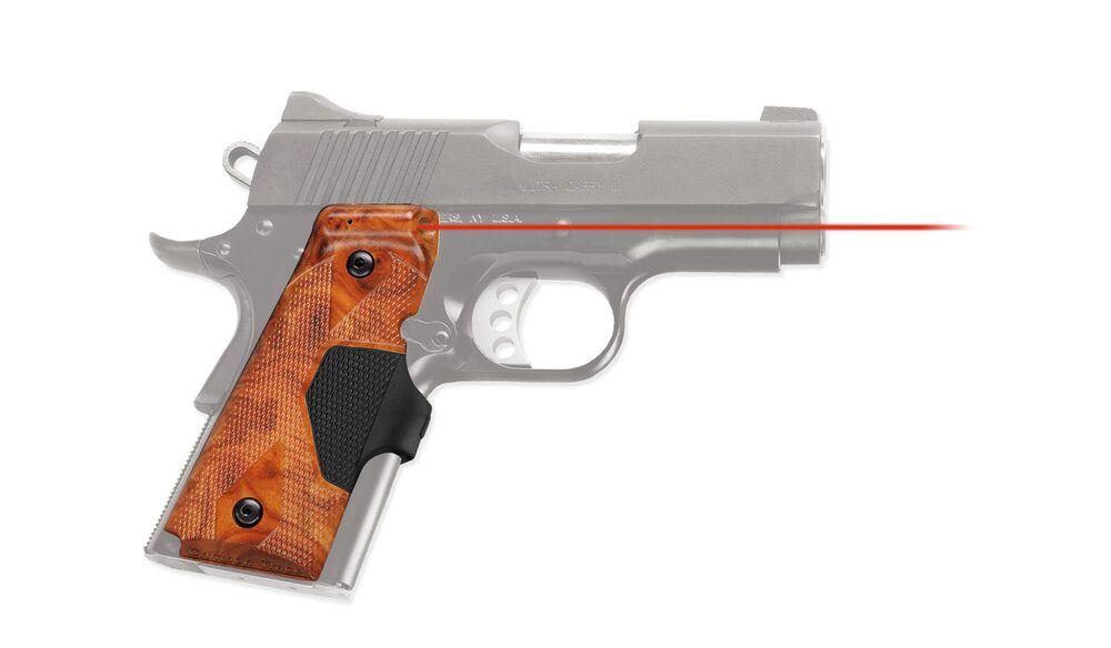 LG-404 P1 Pro-Custom™ Lasergrips® Burlwood Finish for 1911 Compact [DISCONTINUED]