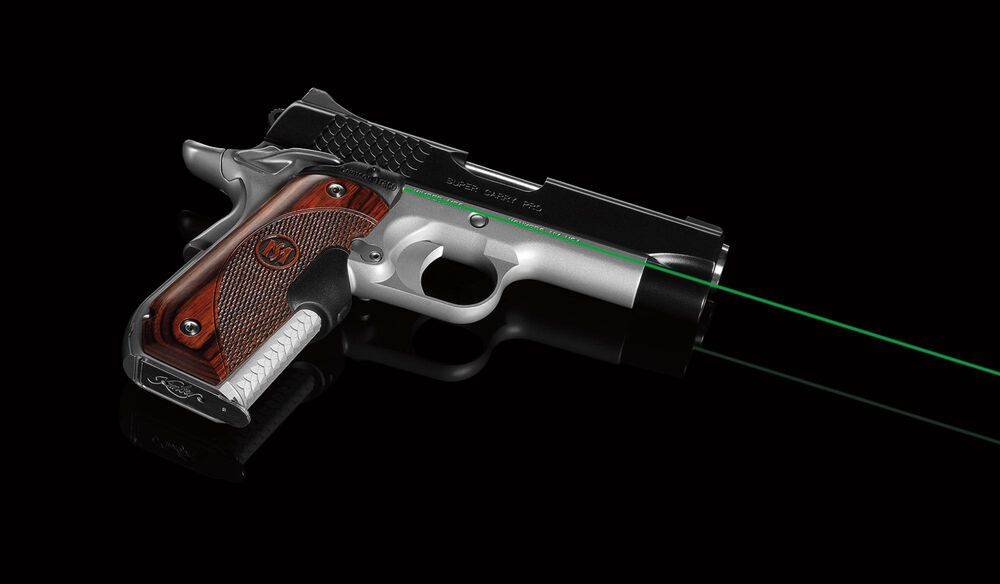 LG-907G Green Master Series™ Lasergrips® Rosewood for 1911 Round Heel