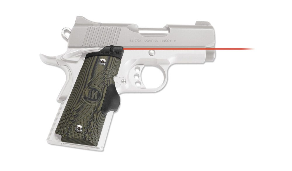 LG-911 Master Series™ Lasergrips® G10 Green for 1911 Compact