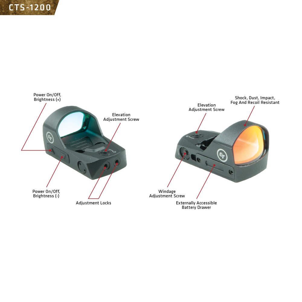 CTS-1250 Compact Open Reflex Sight for Pistols