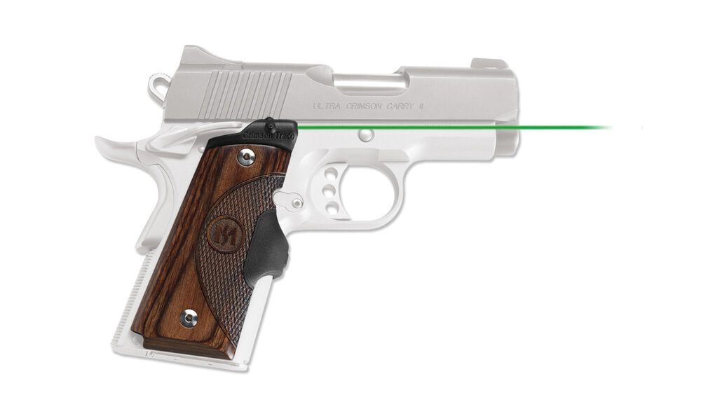 LG-909G Green Master Series™ Lasergrips® Walnut for 1911 Compact