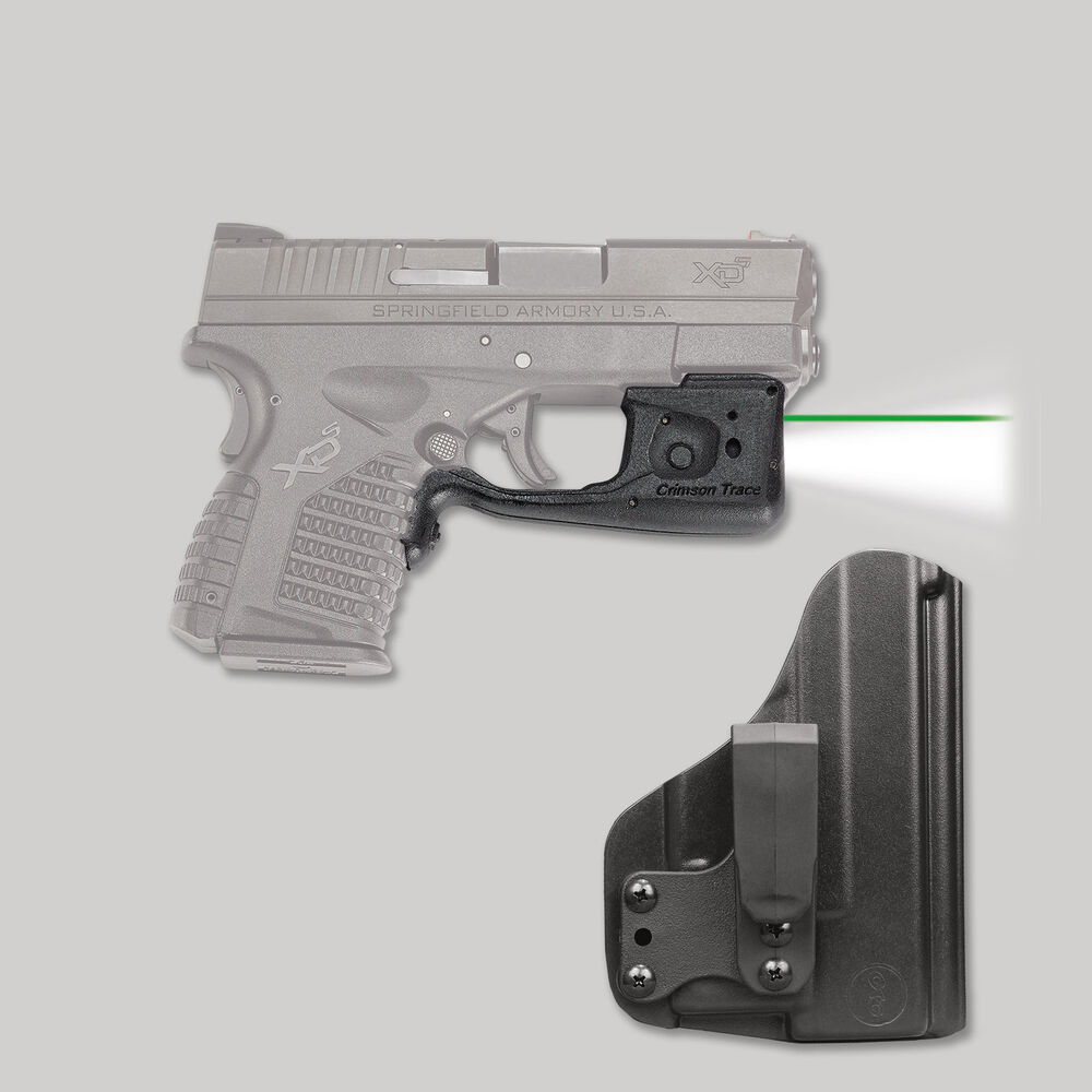 LL-802G-HBT Green Laserguard® Pro™  with Blade-Tech IWB Holster for Springfield Armory XD-S