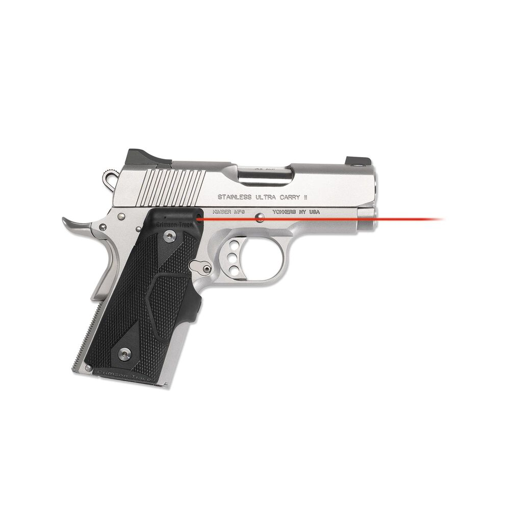 LG-404 KMI Front Activation Lasergrips® Slate Gray with Kimber® Logo for 1911 Compact