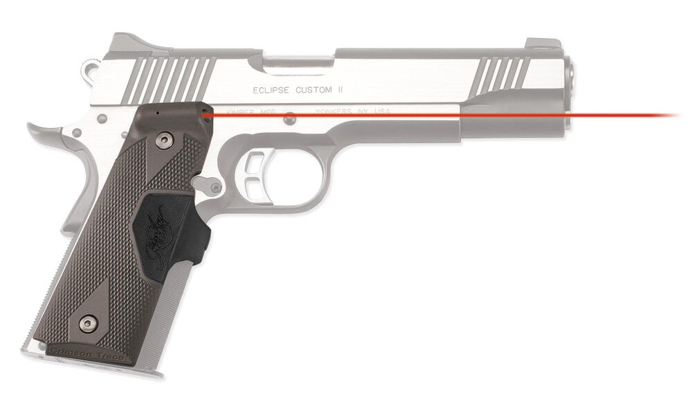 LG-401 KMI Front Activation Lasergrips® Slate Gray with Kimber® Logo for 1911 Full-Size